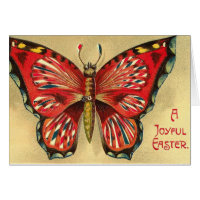 Joyful Easter Vintage Butterfly Card