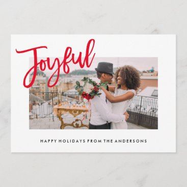 Joyfully Brushed Holiday Photo Card