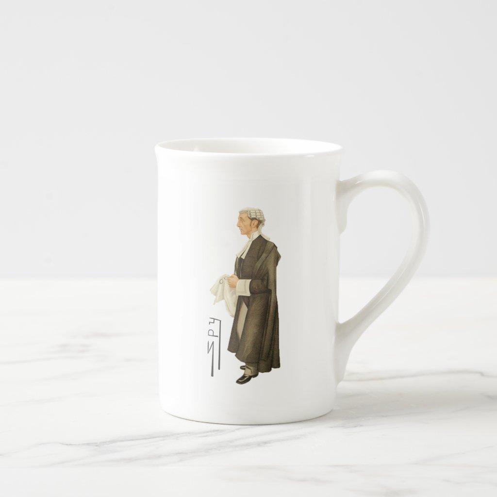 Judge Spy Print Bone China Mug