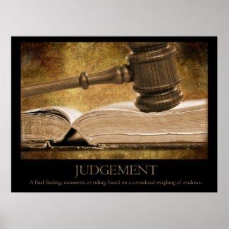 Judgement print