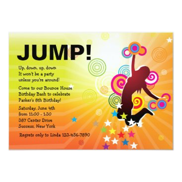 Jump for Joy Bounce House Invitation