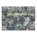 Just A Stone's Throw Away - Card card