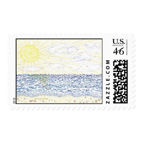 Just Beachy Postage stamp