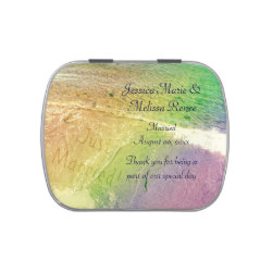 Just Married Beach Candy Tin