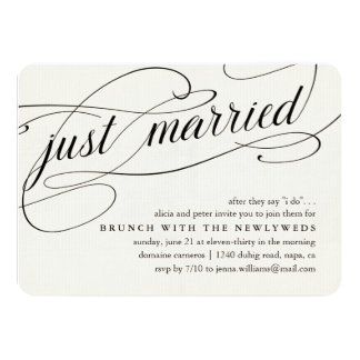 At Last After Wedding Brunch Invitations In Dark Gray Or