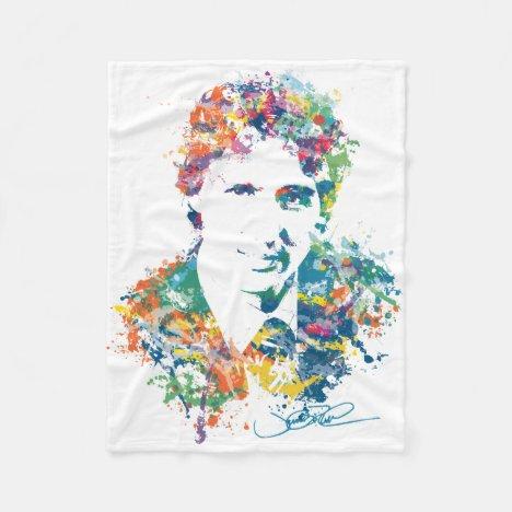 Justin Trudeau Digital Art Fleece Blanket