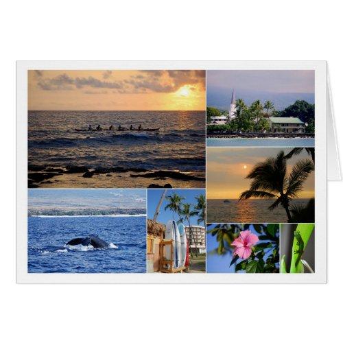 Kailua Kona Hawaii Collage Card card