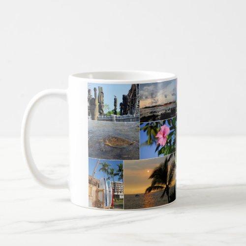 Kailua Kona Hawaii Collage Mug mug