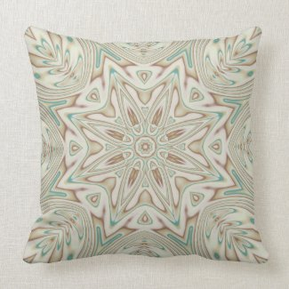 Kaleidoscope 2 (tan) abstract Pillows mojo_throwpillow