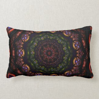 Kaleidoscope 5 (maroon) Pillows mojo_throwpillow