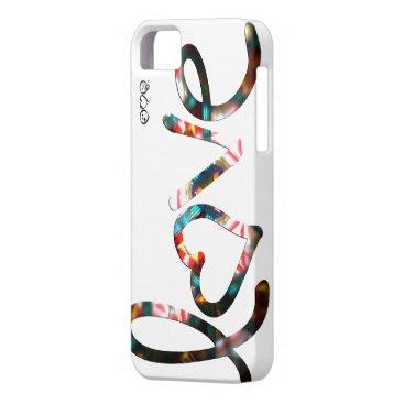 "Kaleidoscope ""love"" iPhone SE/5/5s case"