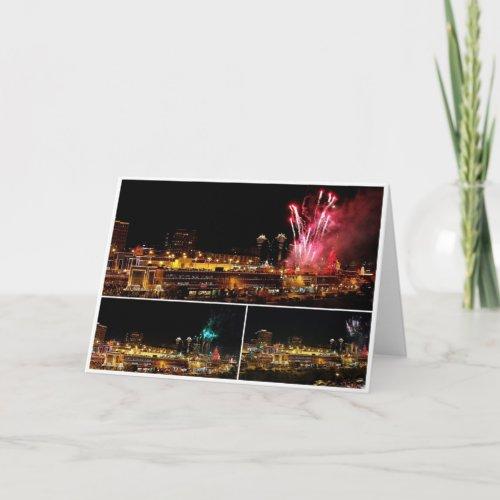 Kansas City Plaza Lights Collage, Fireworks Greeting Cards