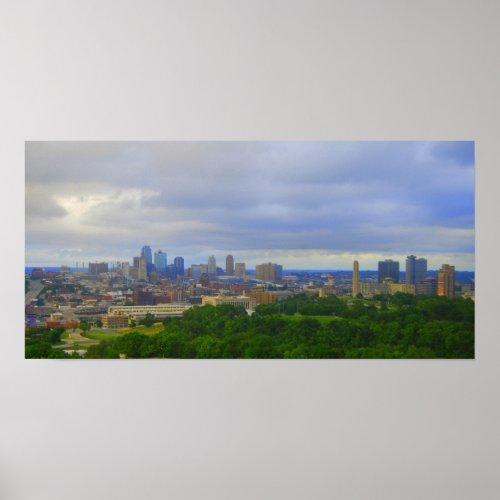 Kansas City Skyline Print print