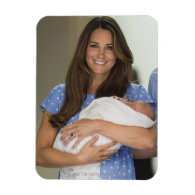 Kate Middleton Holding Newborn Son Flexible Magnets