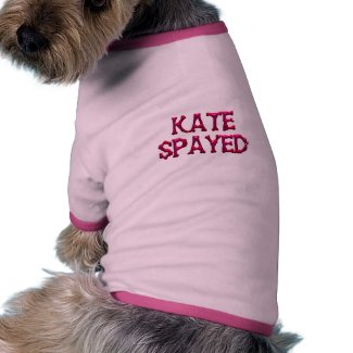 Kate Spayed Doggie Ribbed Tank Top in Pink & Purpl petshirt