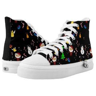 Kawaii Christmas Doodles Unique Customizable Printed Shoes