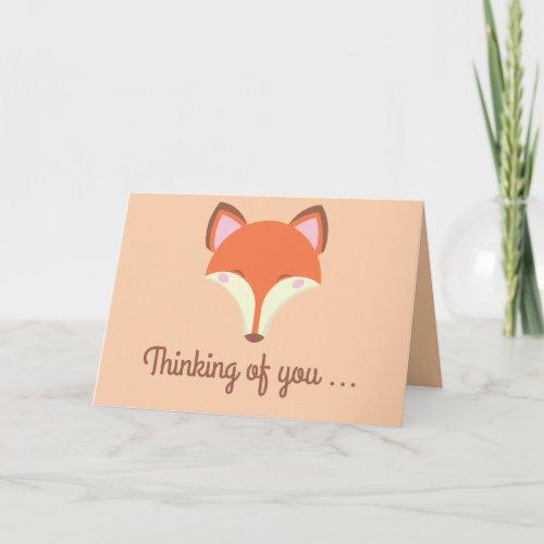 Kawaii Fox - Thinking of You Card