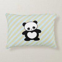 Kawaii panda decorative pillow | Zazzle