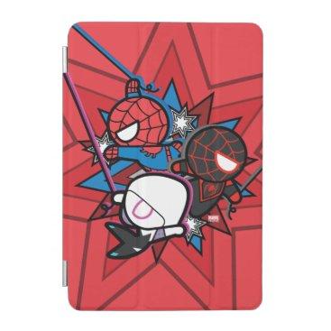 Kawaii Spider-Man, Ghost-Spider, & Miles Morales iPad Mini Cover