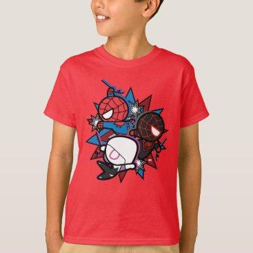 Kawaii Spider-Man, Ghost-Spider, & Miles Morales T-Shirt