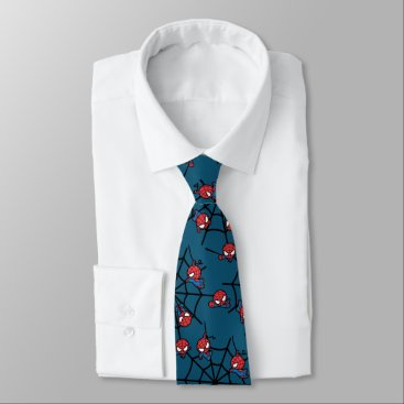Kawaii Spider-Man Hanging Upside Down Neck Tie