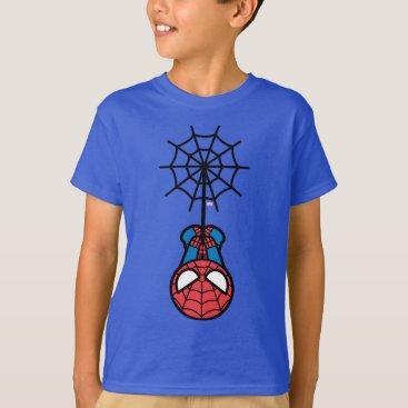 Kawaii Spider-Man Hanging Upside Down T-Shirt