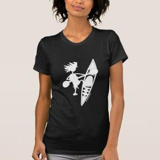 Kayak Canoe Joyful Silhouette T-shirts