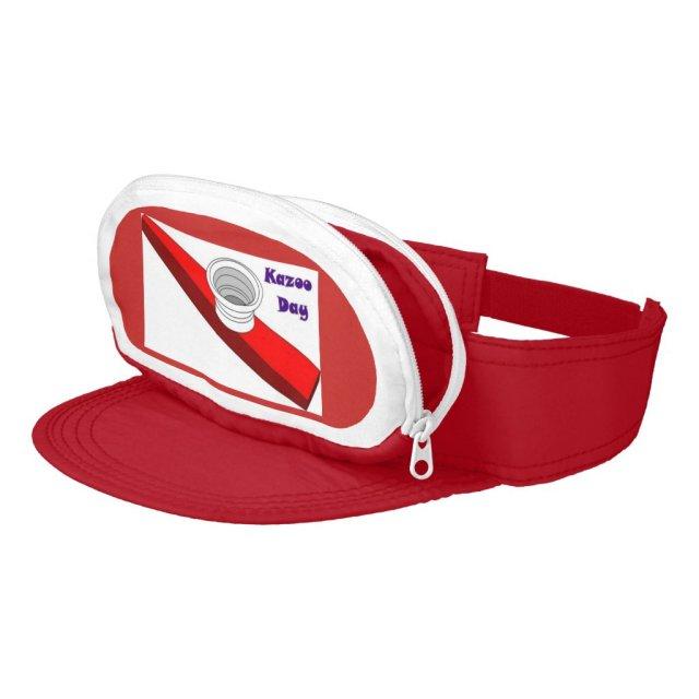 Kazoo Day Red Cap Sac Visor