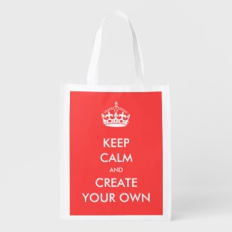 Keep Calm and Carry On Create Your Own | White Market Tote