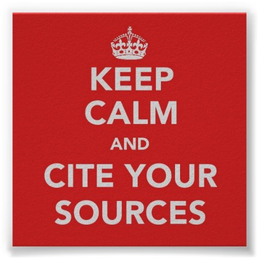 calm and cite sources