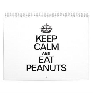 Peanut Calendars and Peanut Wall Calendar Template Designs