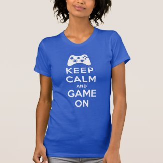 Keep calm and game on tee shirt