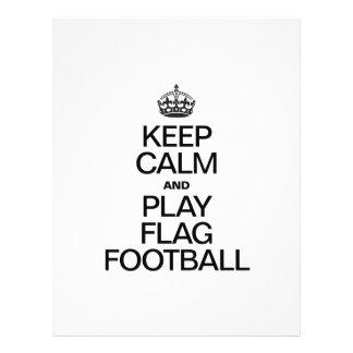 KEEP CALM AND PLAY FLAG FOOTBALL FLYER DESIGN