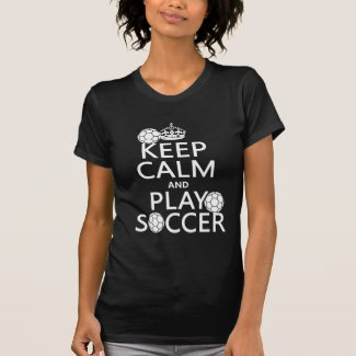 Keep Calm and Play Soccer (any color) Tee Shirts