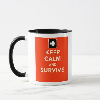 Keep Calm And Survive Ringer Mug Life Safety RH