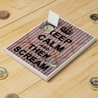 Keep Calm and Then Scream Chocolate Countdown Calendars