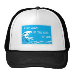 Keep Calm In The Seas Of Life hats