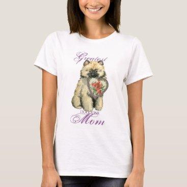 Keeshond Heart Mom T-Shirt