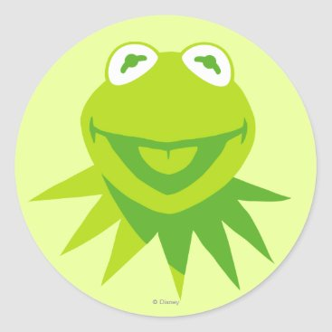 Kermit the Frog Smiling Classic Round Sticker