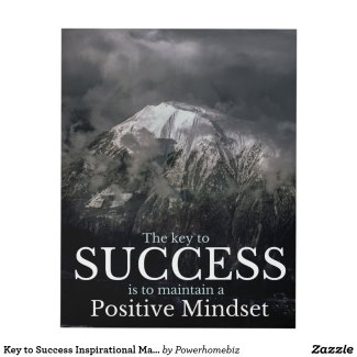 Key to Success Inspirational Matte Wall Panel