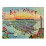 Key West Florida Vintage Illustration Postcard