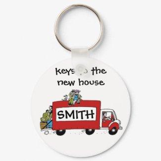 keys to new house, garage, storage keychain