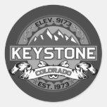 Keystone City Logo Silver Sticker