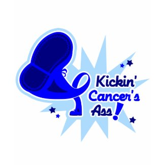 Kickin Cancer's Ass Colon Cancer shirt