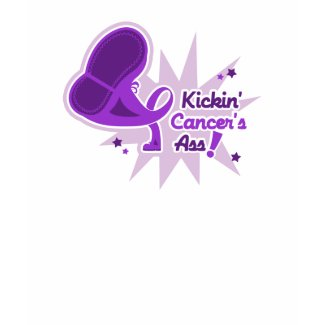 Kickin Cancer's Ass Pancreatic Cancer shirt