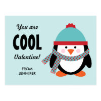 Kid Valentine's Day Card - Cool Penguin
