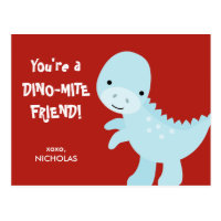 Kid Valentine's Day Card - Dino-mite Friend