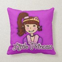 Kids girls little star princess pillow | Zazzle