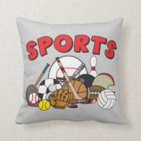 Kids Sports Pillows - Kids Sports Throw Pillows | Zazzle