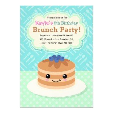 Kids Yummy Brunch Birthday Party Invitation